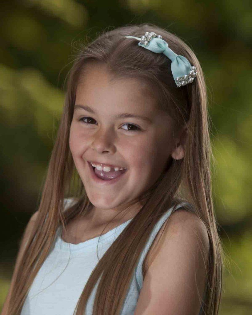 girl outside smiling
